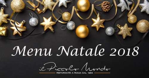 Menu Di Natale A Roma.Menu Di Natale 2018 Regalati Un Giorno Speciale
